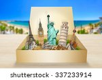 famous monuments of the world... | Shutterstock . vector #337233914
