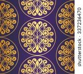 seamless pattern. golden... | Shutterstock .eps vector #337236470