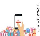 christmas gifts online shopping ... | Shutterstock .eps vector #337243196