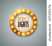 retro banner with shining... | Shutterstock .eps vector #337245176