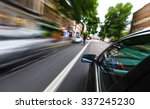 mirror view of speeding car. | Shutterstock . vector #337245230