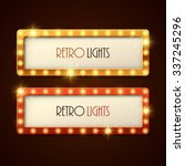retro banners with shining... | Shutterstock .eps vector #337245296