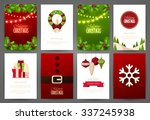 christmas backgrounds set | Shutterstock .eps vector #337245938