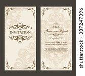 elegant vintage wedding...   Shutterstock .eps vector #337247396