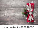 christmas table place setting.... | Shutterstock . vector #337248050