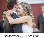 loving newlyweds dancing on... | Shutterstock . vector #337251704