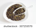 black and green tea  tea blend  ... | Shutterstock . vector #337253570