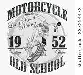 biker fashion typography ... | Shutterstock .eps vector #337254473