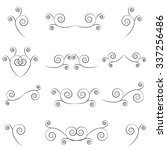 swirl set | Shutterstock . vector #337256486