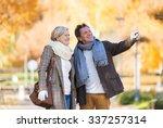 active seniors on a walk in... | Shutterstock . vector #337257314