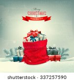 holiday christmas background... | Shutterstock .eps vector #337257590