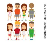 set of sport players on a white ... | Shutterstock .eps vector #337259570