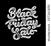 black friday sale handmade... | Shutterstock .eps vector #337261850