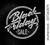 black friday sale handmade... | Shutterstock .eps vector #337261874