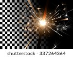 sparkler close up on a... | Shutterstock .eps vector #337264364