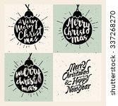 retro vintage minimal merry... | Shutterstock .eps vector #337268270