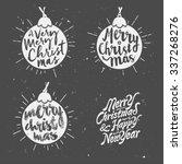 retro vintage minimal merry... | Shutterstock .eps vector #337268276