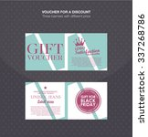gift voucher template. discount ... | Shutterstock .eps vector #337268786