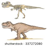 Dinosaur T Rex. Cartoon Image...