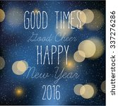 happy new year greeting card | Shutterstock .eps vector #337276286