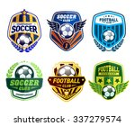 set of soccer football crests... | Shutterstock .eps vector #337279574