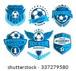 set of soccer football crests... | Shutterstock .eps vector #337279580