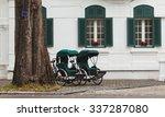 two retro cyclo parking in... | Shutterstock . vector #337287080