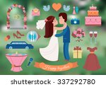 wedding planner icons and... | Shutterstock .eps vector #337292780