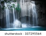 jangle landscape with flowing... | Shutterstock . vector #337295564
