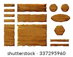 a set of realistic wooden... | Shutterstock . vector #337295960