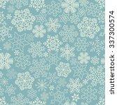 vector seamless snowflakes... | Shutterstock .eps vector #337300574