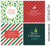 christmas cards with christmas... | Shutterstock .eps vector #337303754