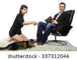 allergic father dislikes... | Shutterstock . vector #337312046
