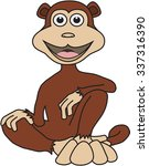 cartoon monkey | Shutterstock .eps vector #337316390