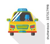 transportation taxi flat icon | Shutterstock .eps vector #337317998