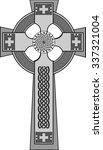 gray monotone decorated celtic...   Shutterstock .eps vector #337321004