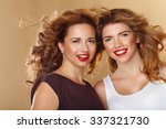 Portrait Of Two Girls With Pur...