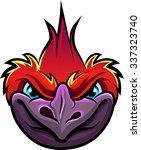 inspired comic book bird.... | Shutterstock .eps vector #337323740