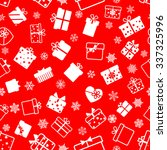 seamless pattern of gift boxes  ... | Shutterstock .eps vector #337325996