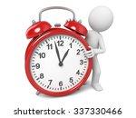 3d guy and a clock   Shutterstock . vector #337330466