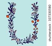 flower alphabet vector design.... | Shutterstock .eps vector #337330580