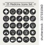 set of 25  line medicine icons... | Shutterstock .eps vector #337331060