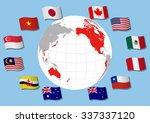 trans pacific partnership ... | Shutterstock .eps vector #337337120