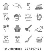 cleaning icons | Shutterstock .eps vector #337347416