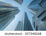 Tall Dubai Marina Skyscrapers...