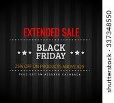 black friday extended sale | Shutterstock .eps vector #337348550
