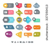 set of vector like counter | Shutterstock .eps vector #337350413