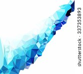 blue polygonal mosaic... | Shutterstock .eps vector #337353893