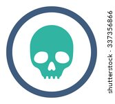 skull vector icon. style is... | Shutterstock .eps vector #337356866