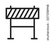 barricade  warning  barrier... | Shutterstock .eps vector #337358948